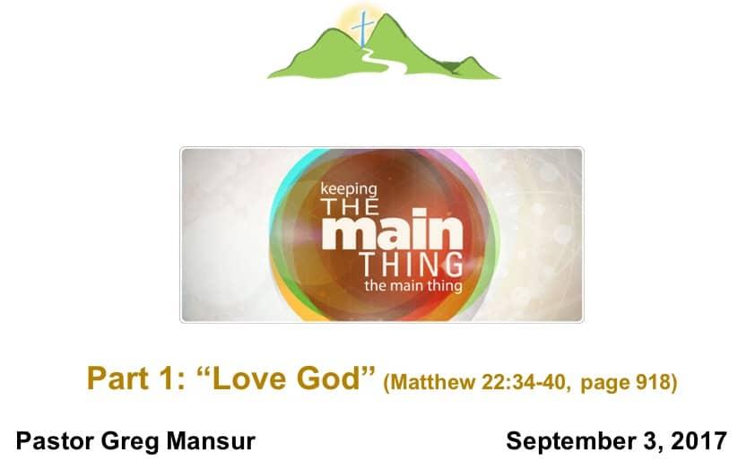 1-Love God