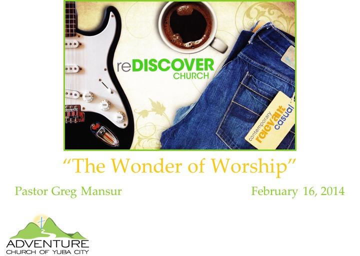 4-The Wonder Of Worship