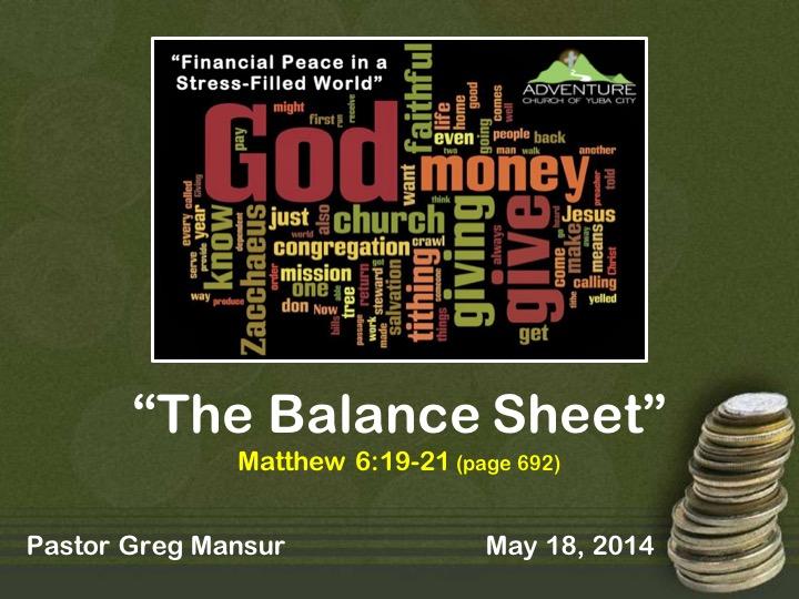 4-The Balance Sheet