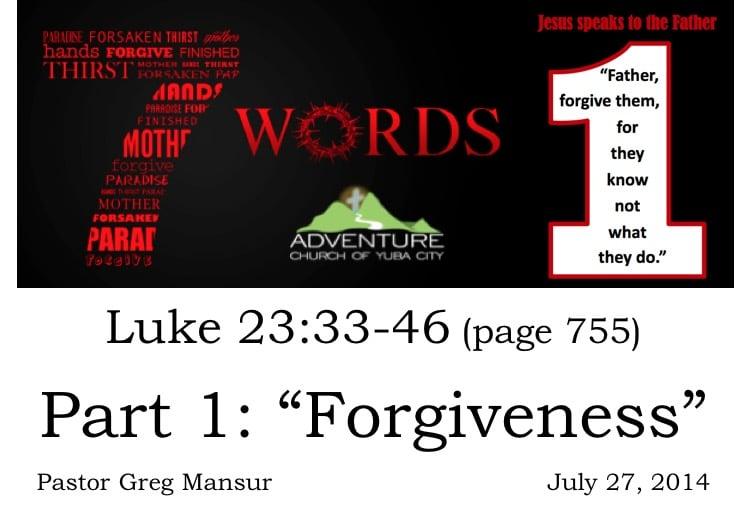 1-Forgiveness