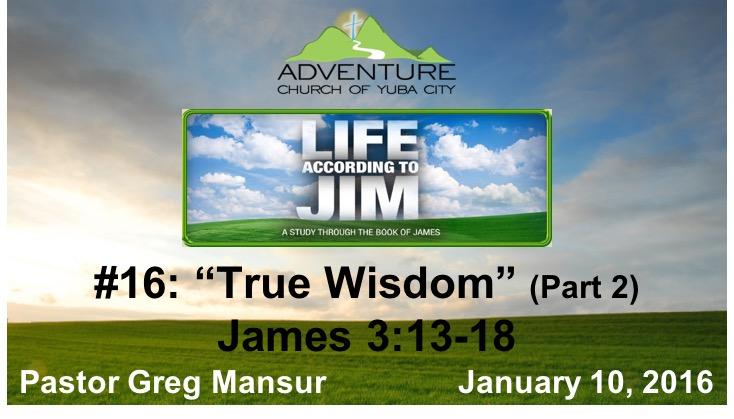 16-True Wisdom, Part 2